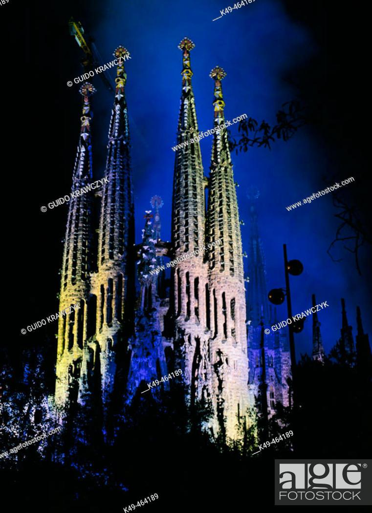 Stock Photo: Sagrada Familia. Barcelona. Catalonia. Spain.