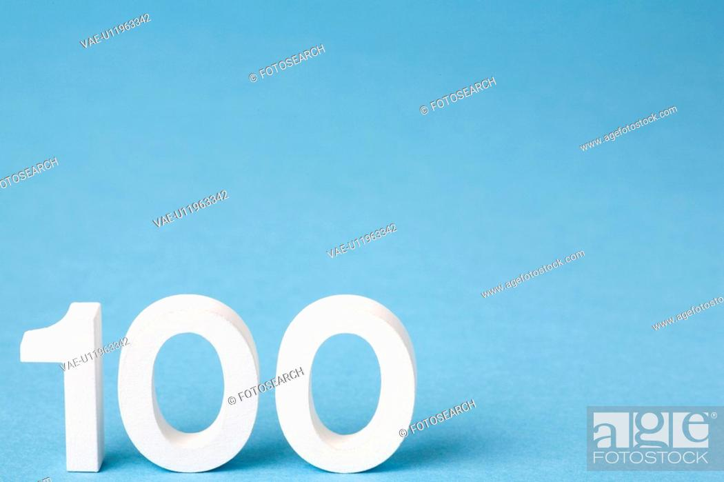 Stock Photo: Number 100.