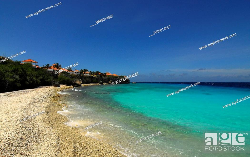 Stock Photo: Beach of Curacao, Caribbean Sea, Netherland Antilles, Curacao.