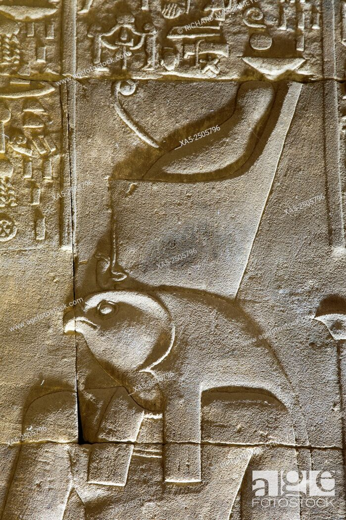 Imagen: Relief Depicting the God Horus, Temple of Horus, Edfu, Egypt.