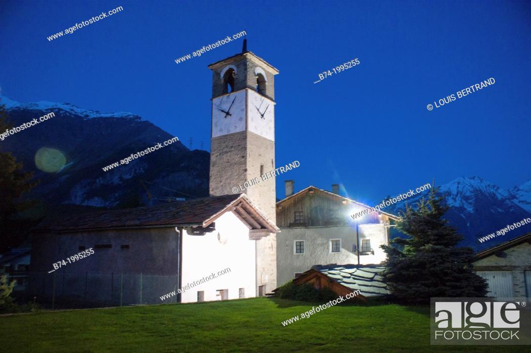 Stock Photo: gimillan, cogne, val of aosta, italy.