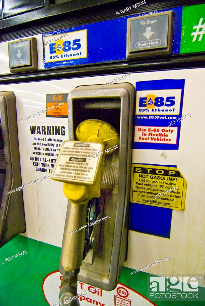 Flex Fuel Gas Stations >> E85 Ethanol Fuel Pump At Retail Gasoline Station For Use In