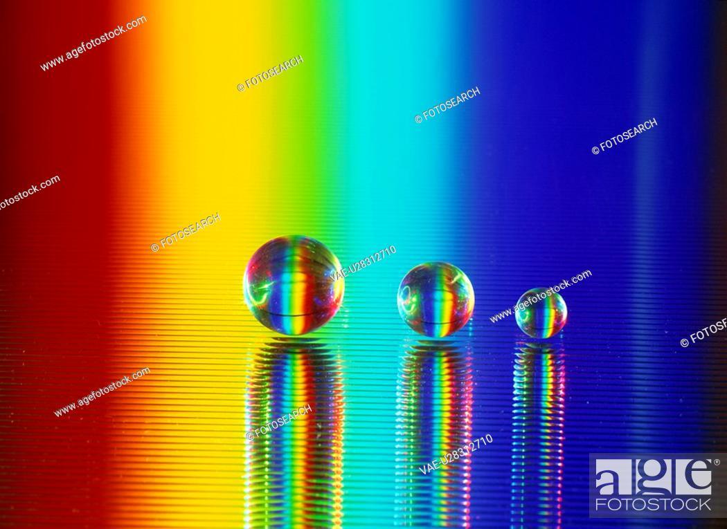 Stock Photo: Rainbow Crystal.