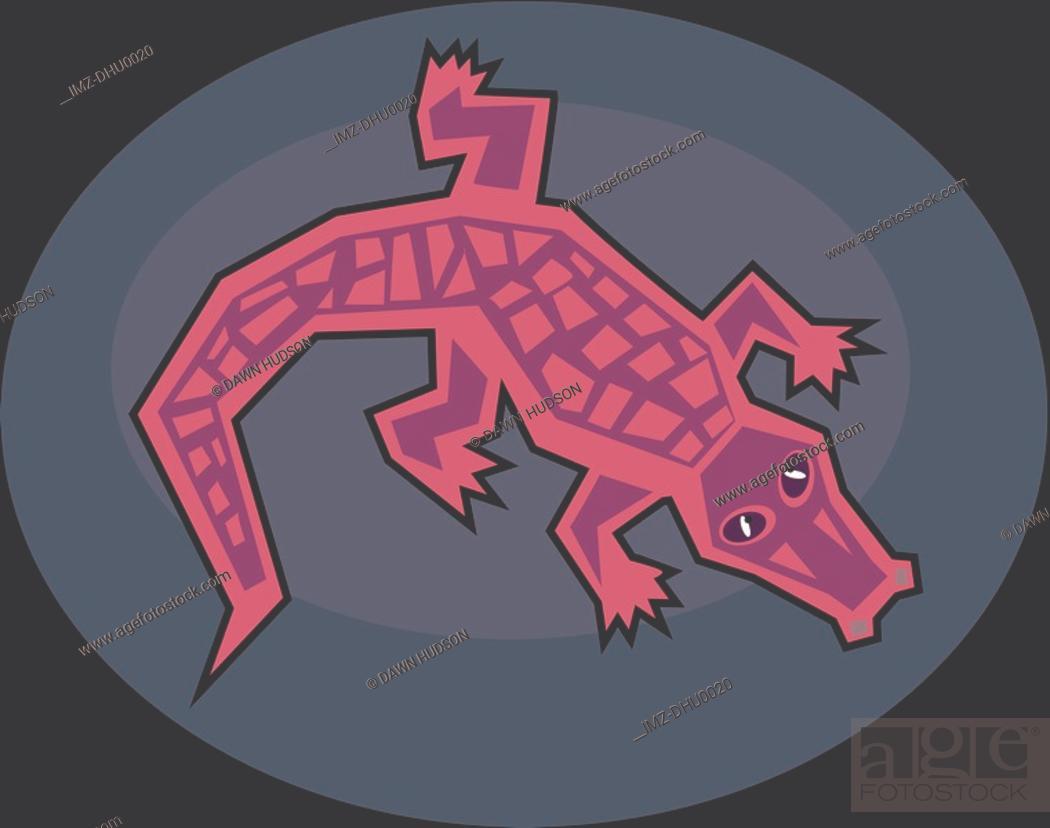 Stock Photo: Illustration of a crocodile.