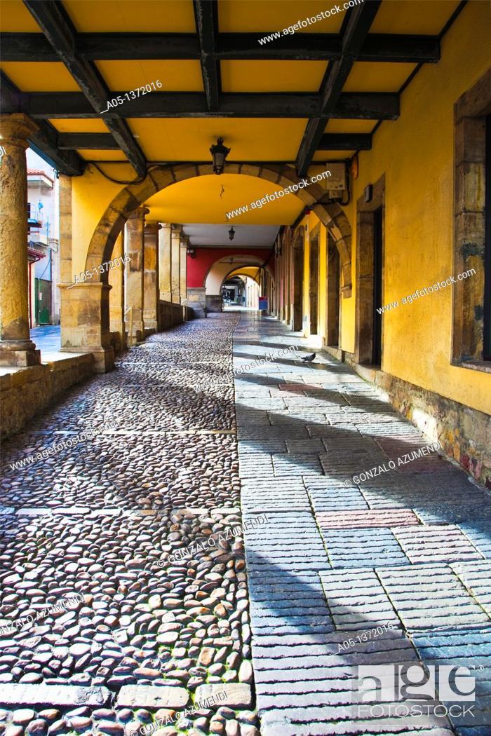 Photo de stock: Galiana Street  Aviles  Asturias  Spain.