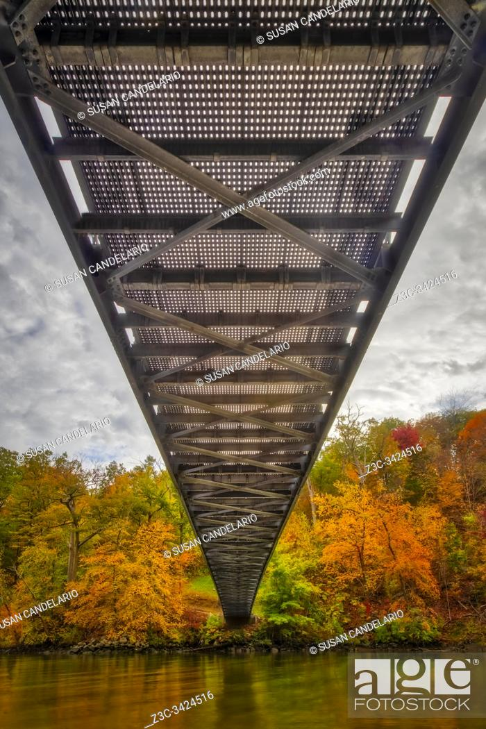 Stock Photo: Popolopen Footbridge.