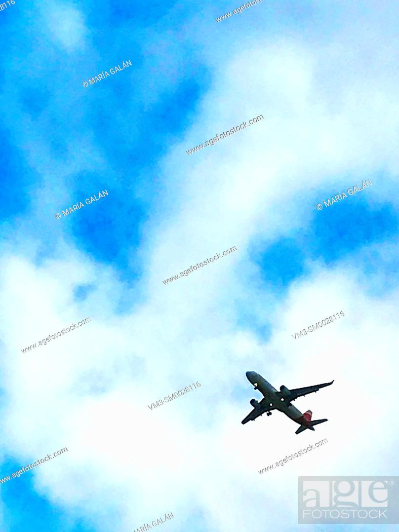 Stock Photo: Airplane flying.