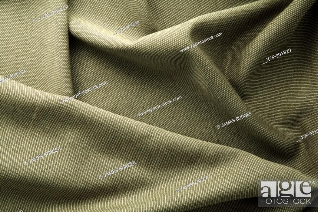 Stock Photo: Khaki Fabric.