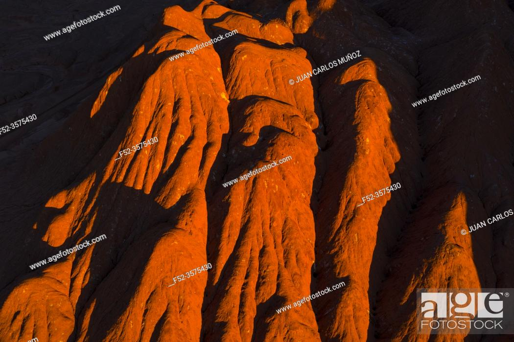 Stock Photo: Aerial View, Desierto del Diablo, Los Colorados, Tolar Grande, La Puna, Argentina, South America, America.