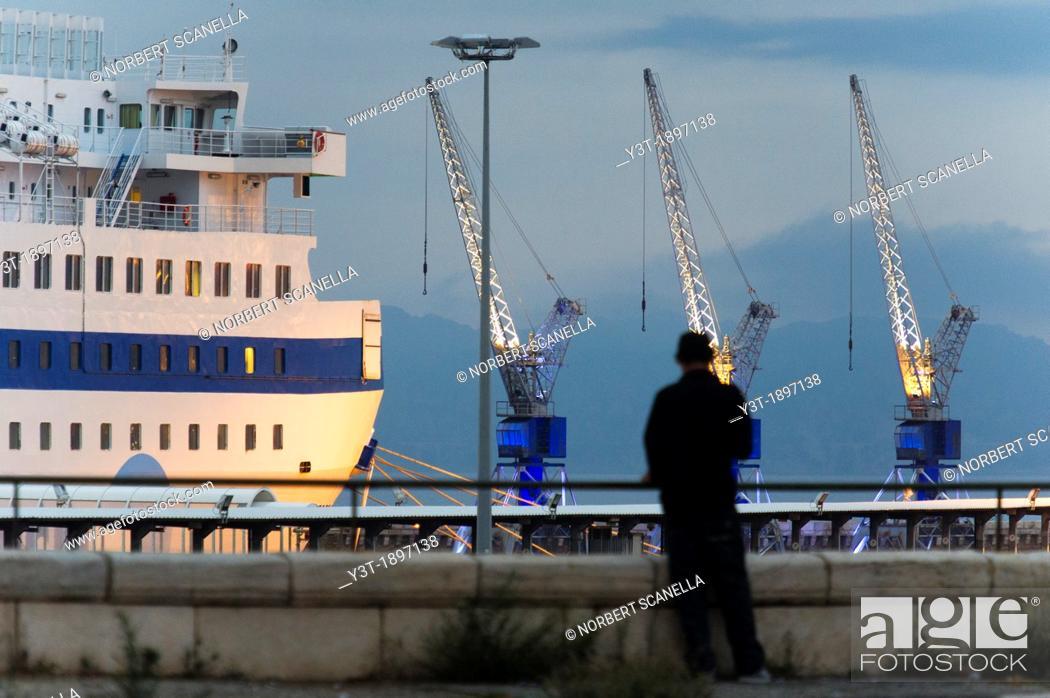 Stock Photo: Europe, France, Bouches-du-Rhone 13, Marseille, European Capital of Culture 2013, 2nd District, Zone Euroméditerranée, Grand Port Maritime  Quai des Anglais.
