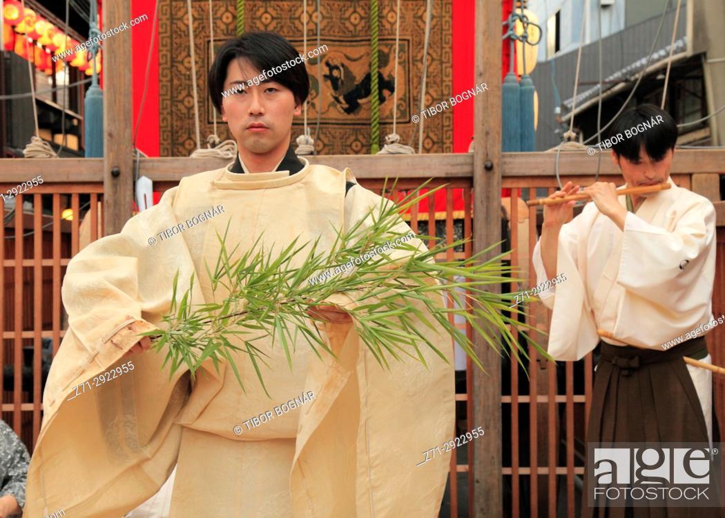 Stock Photo: Japan, Kyoto, Gion Matsuri, festival, ceremony, people,.