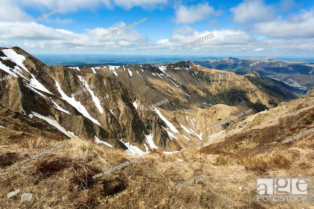Stock Photo: Puy de Sancy, Mont Dore, Puy-de-Dôme, Auvergne-Rhône-Alpes, France.