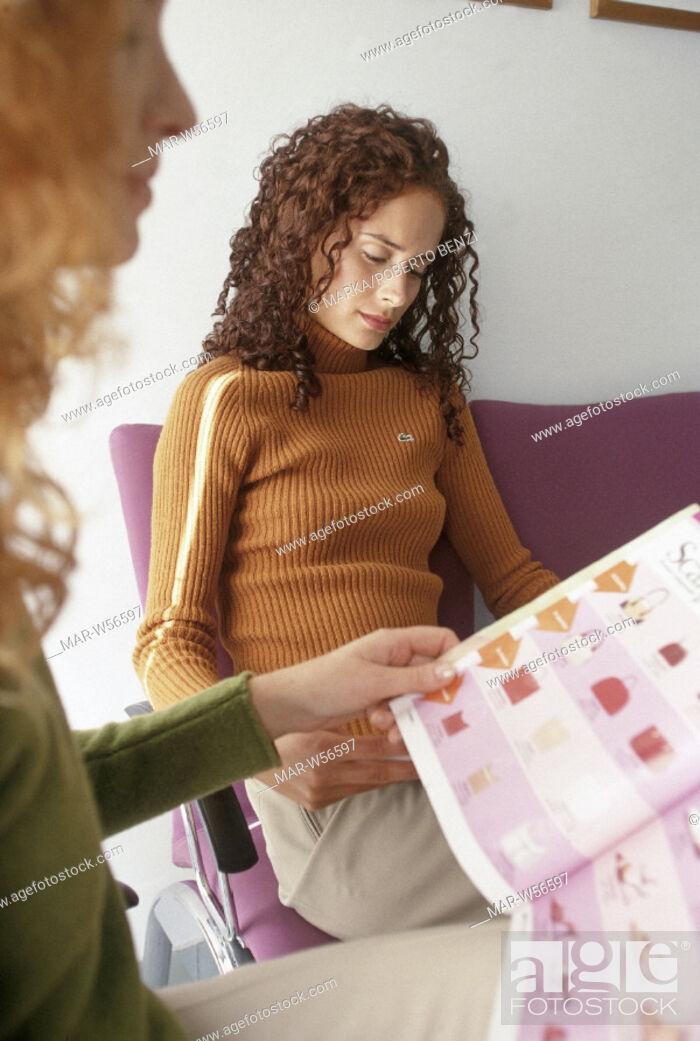 Stock Photo: women, hospital waiting room.