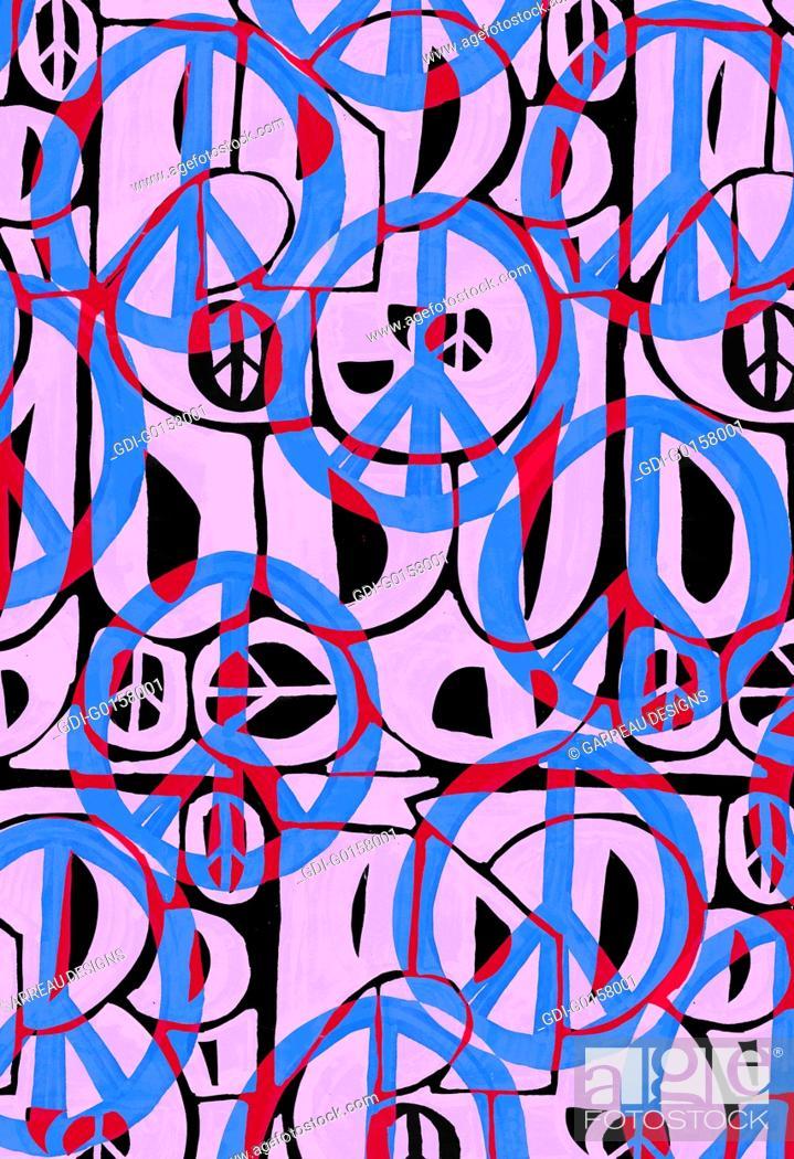 Imagen: Contemporary peace illustration.
