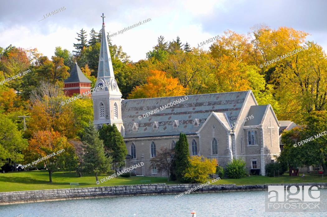 Stock Photo: Trinity Episcopal Church Seneca Falls New York Finger Lakes Region.