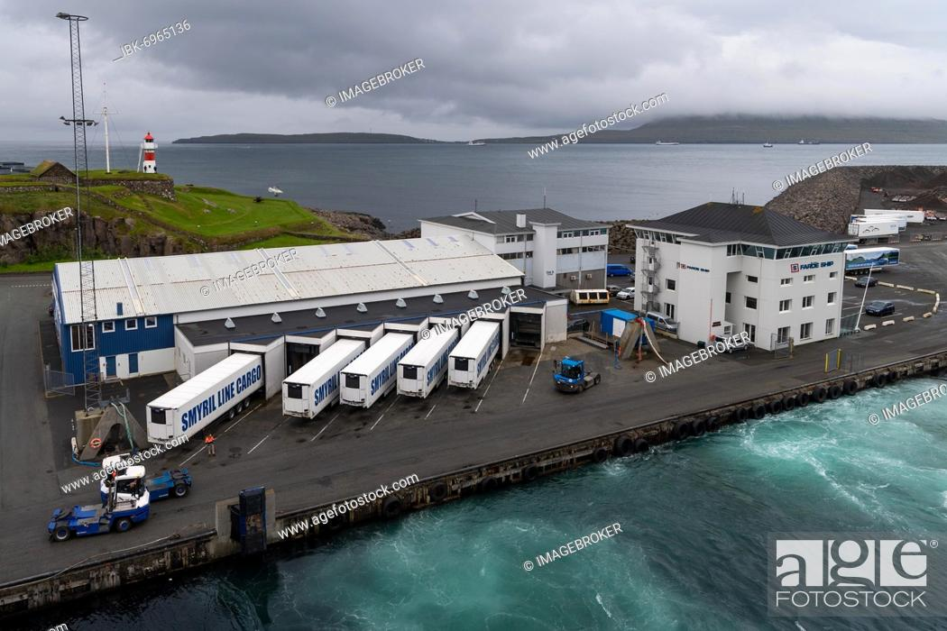 Stock Photo: Skansin harbour and lighthouse, historic fortification, Tórshavn, Streymoy Island, Faroe Islands, Denmark, Europe.