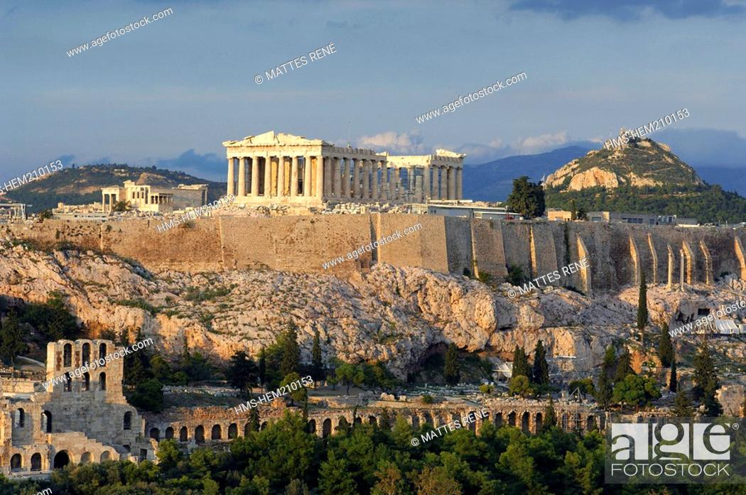 Stock Photo: Greece, Attica, Athens, Acropolis, listed as World Heritage by UNESCO.