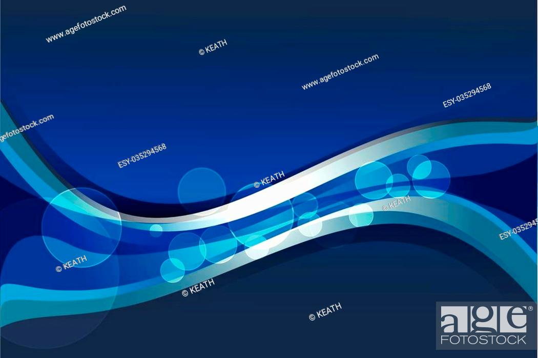 Vector: Abstract vector blue background with wavy lines.