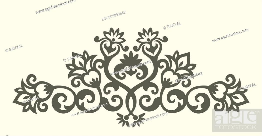 Stock Vector: floral ornament.