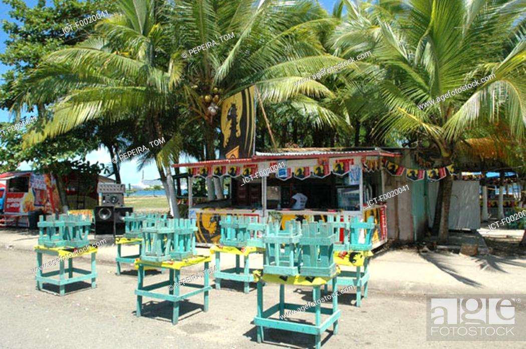 Stock Photo: Costa Rica, Puerto Limon, during carnival, refreshment bar.