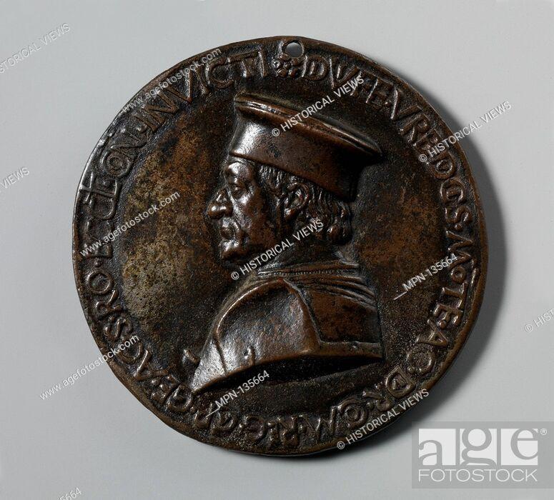 Imagen: Federigo da Montefeltro, Duke of Urbino. Artist: Medalist: Savelli Sperandio (Italian, Mantua 1425?-?1504 Venice); Date: ca.