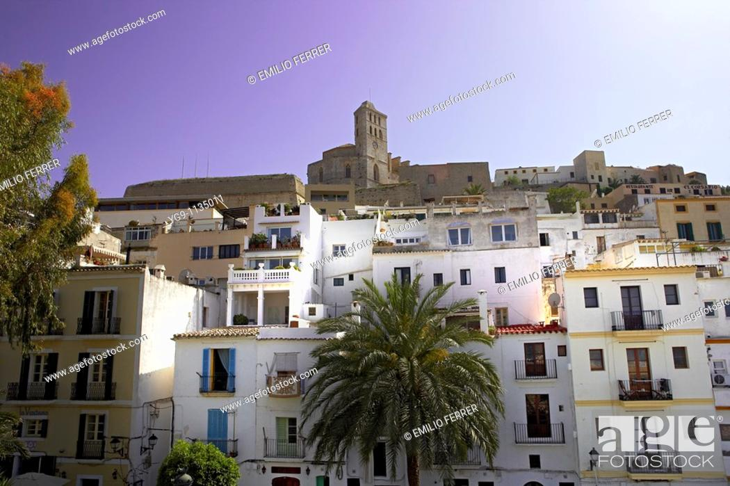 Stock Photo: Cathedral in Ibiza  Spain.