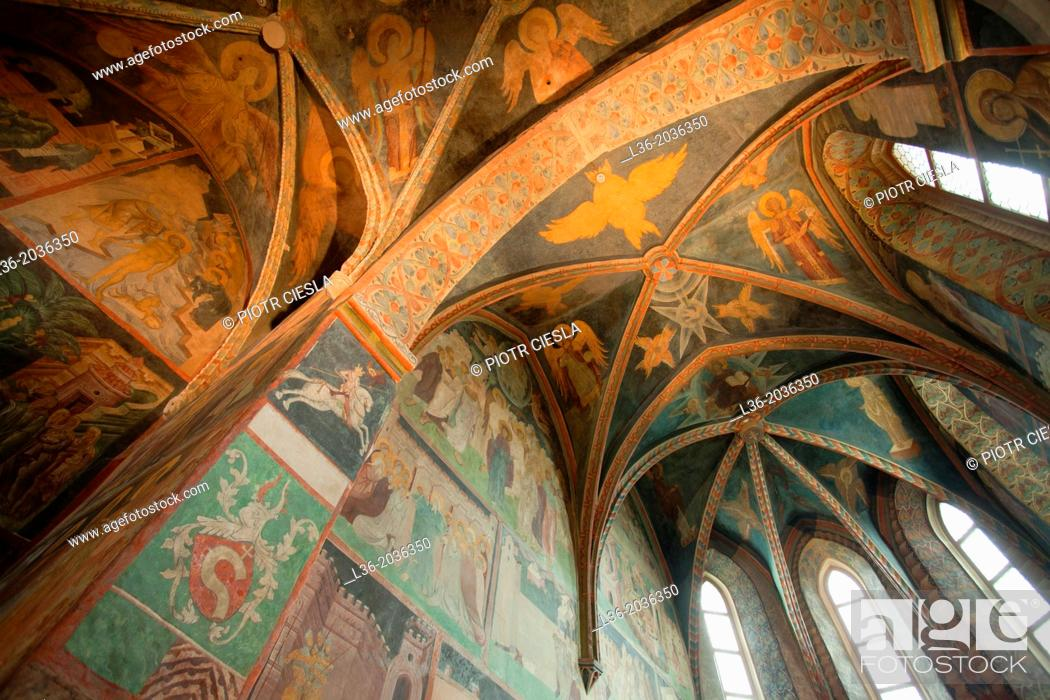 Stock Photo: Gothic Holy Trinity Chapel in the Lublin Castle, Poland. A marvellous example of Ruthenian-Bizantine frescoes, 15th century.