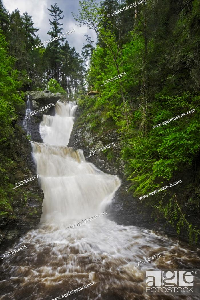 Stock Photo: Raymondskill Waterfalls.