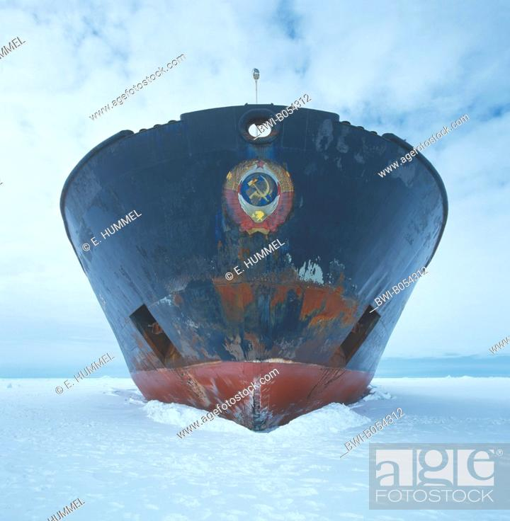 Imagen: russian icebreaker Kapitan Khlebnikov, bow in the ice of the Lutzow-Holm-Bay, Antarctica.