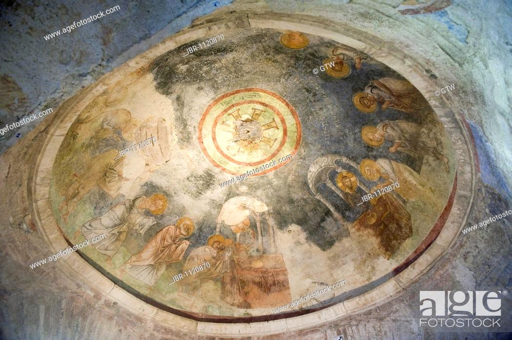 Stock Photo: Saint Nicholas Church, painting of the Holy Communion, Demre, Myra, Turkey.