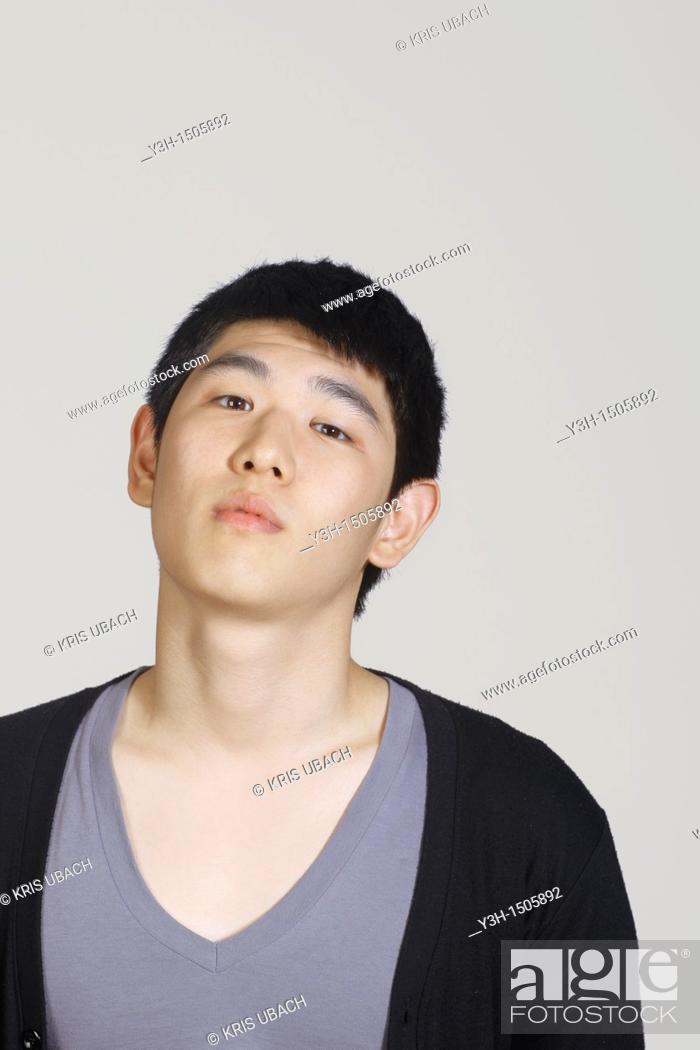 Stock Photo: Studio shot of Korean man.