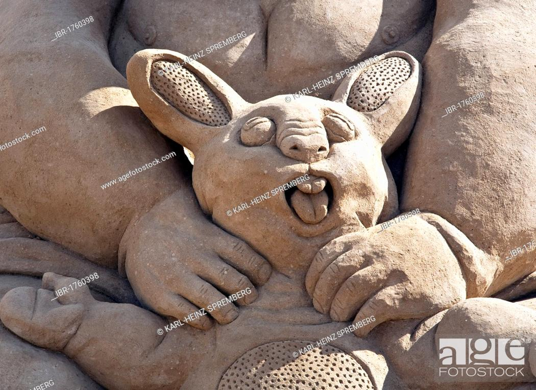 Photo de stock: Sand sculpture at the Sand Sculpture Festival, Berlin, Germany, Europe.