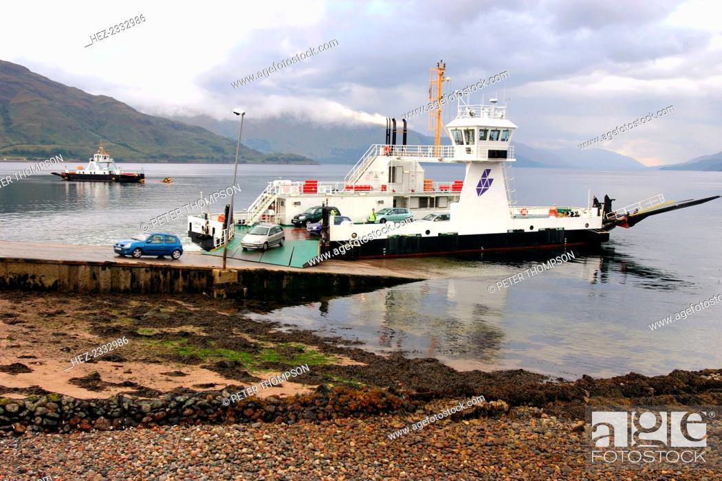 Stock Photo: Corran Ferry, Loch Linnhe, Highland, Scotland.