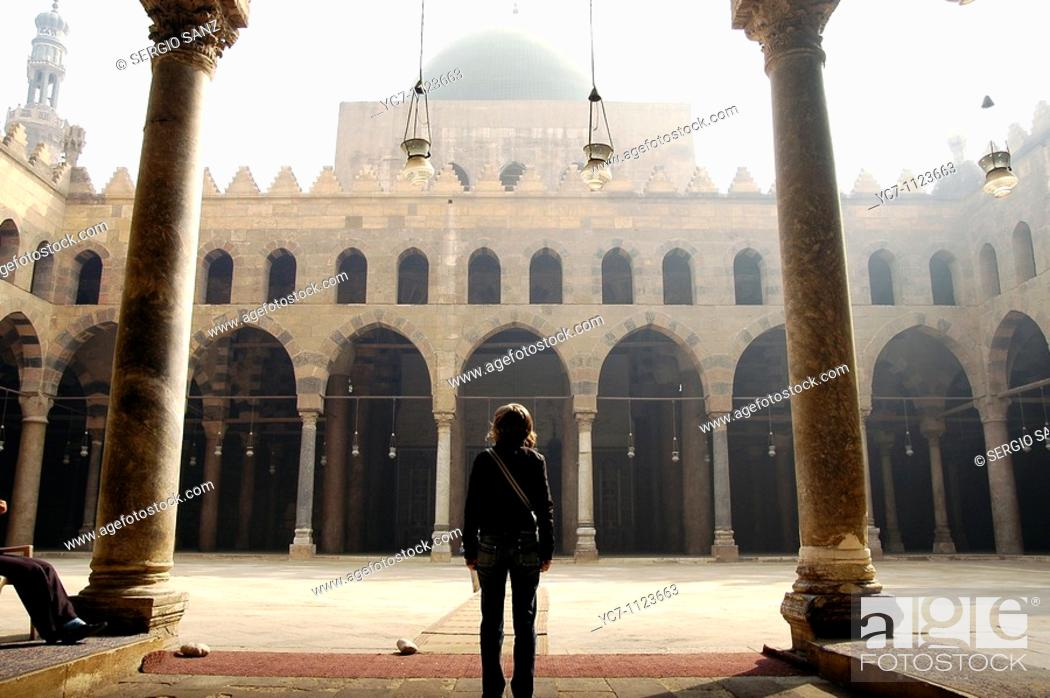 Stock Photo: mosque in the citadel of Cairo, Egypt.