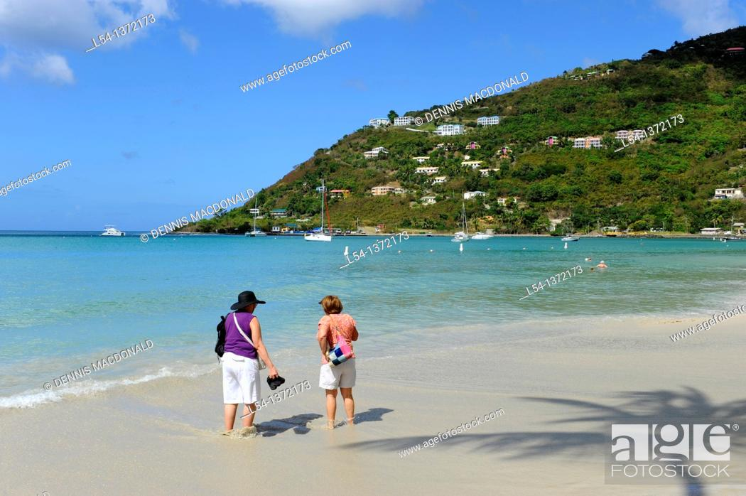 Stock Photo: Cane Garden Bay Beach Tortola BVI Caribbean Cruise.