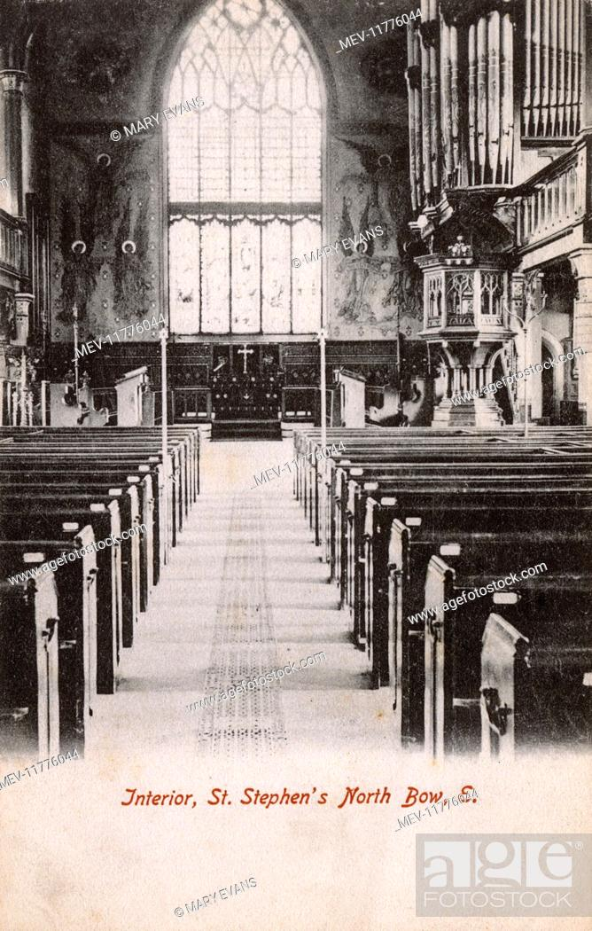 Imagen: Interior of St Stephen's Church, Tredegar Road, Bow, East London.
