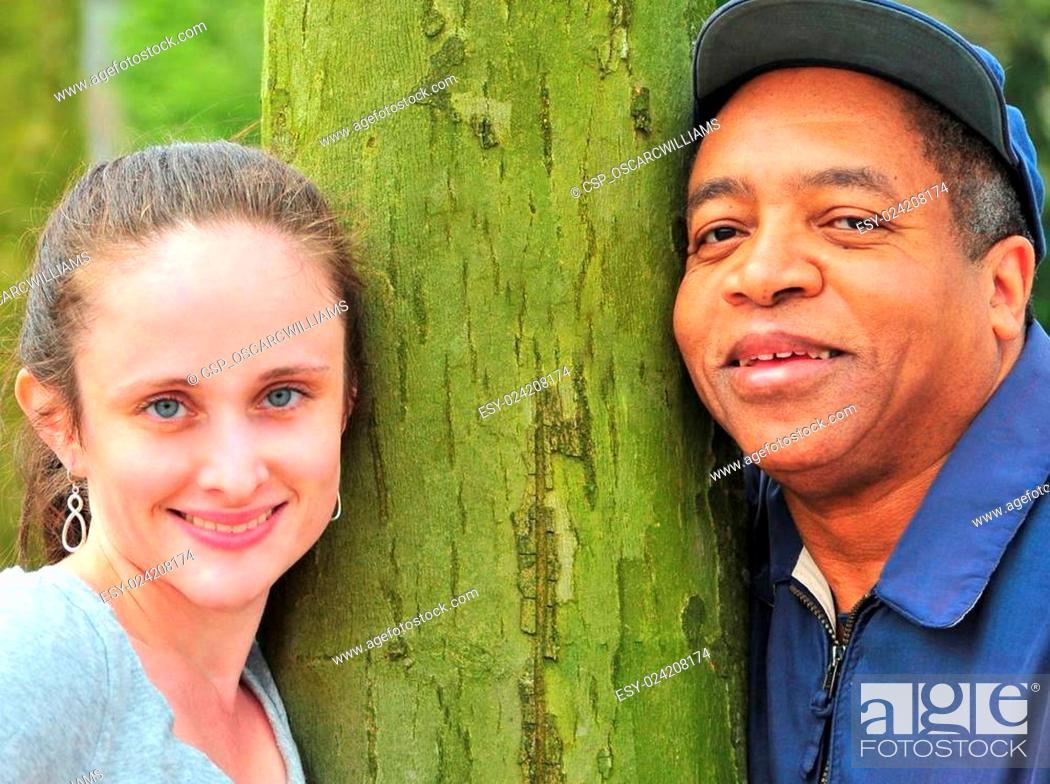 Stock Photo: Interracial couple.