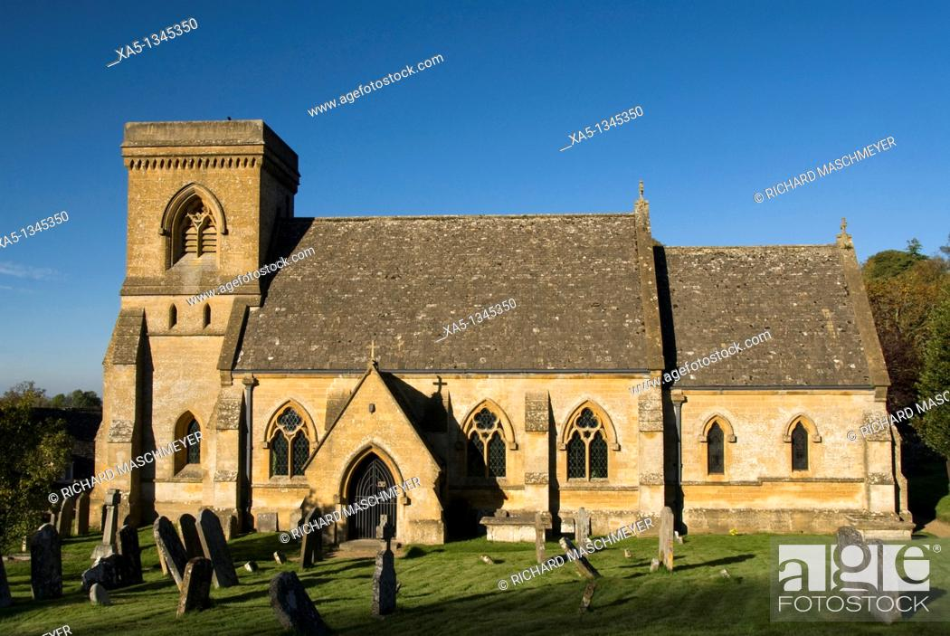 Stock Photo: St Barnabas Church, Snowshill, Cotswolds, England, UK.