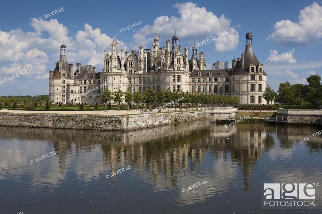 Stock Photo: Chambord castle, Loire valley, France.