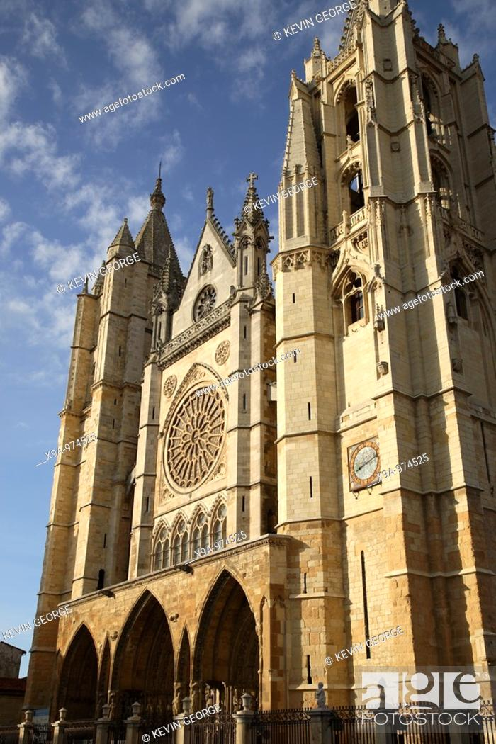Stock Photo: Leon Cathedral, Spain.