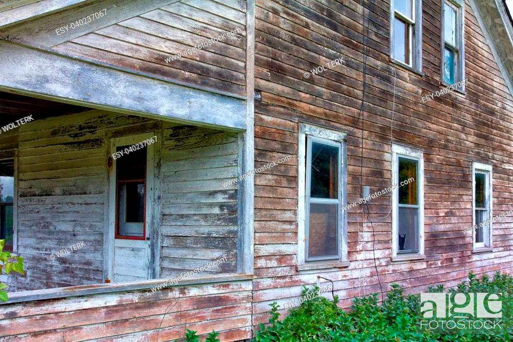 Stock Photo: Abandoned and Dilapidated House in Rural United States.