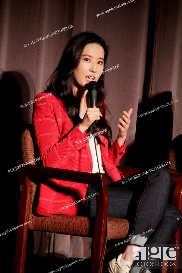 """Stock Photo: Liu Yifei 03/07/2020 """"""""Mulan"""""""" Special Screening held at The Directors Guild of America Theatre in Los Angeles, CA. Photo by I."""