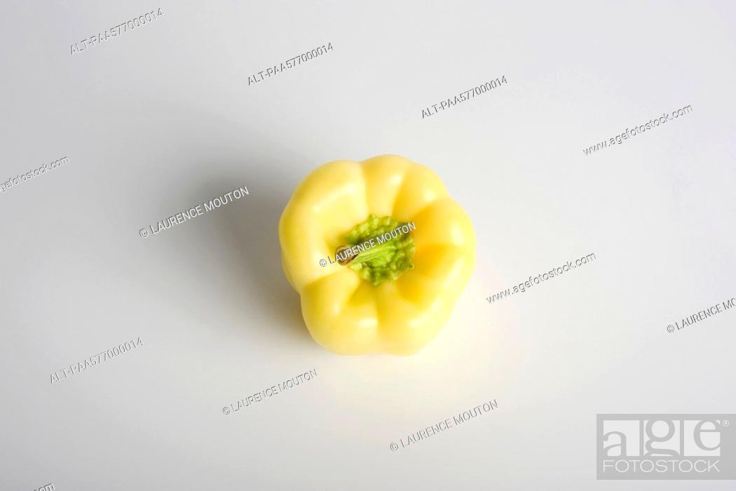 Stock Photo: White bell pepper.