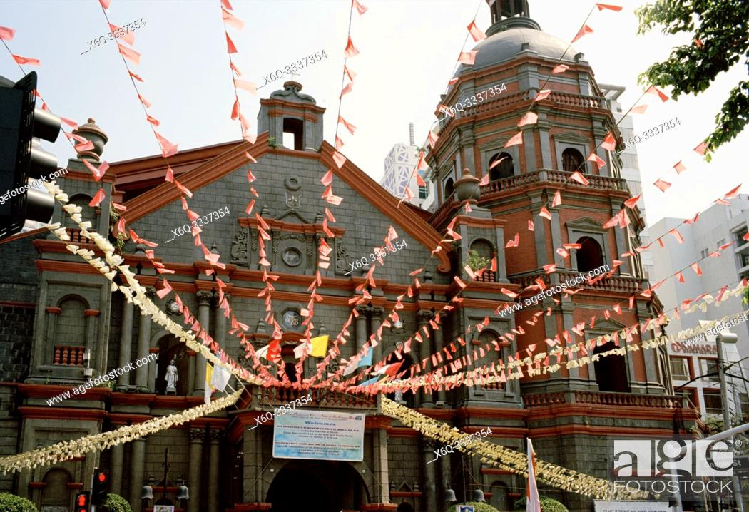 Stock Photo: Binondo Church aka Minor Basilica of Saint Lorenzo Ruiz in Chinatown in Manila in Luzon Metro Manila in the Philippines in Southeast Asia Far East.