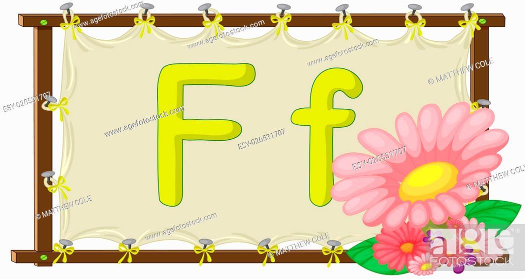 Stock Photo: Alphabet letter on a canvas.