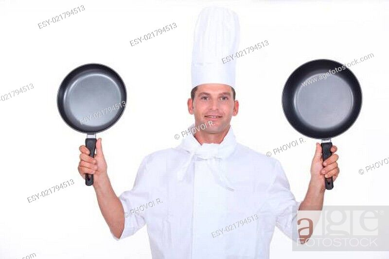 Imagen: Chef with two pans.
