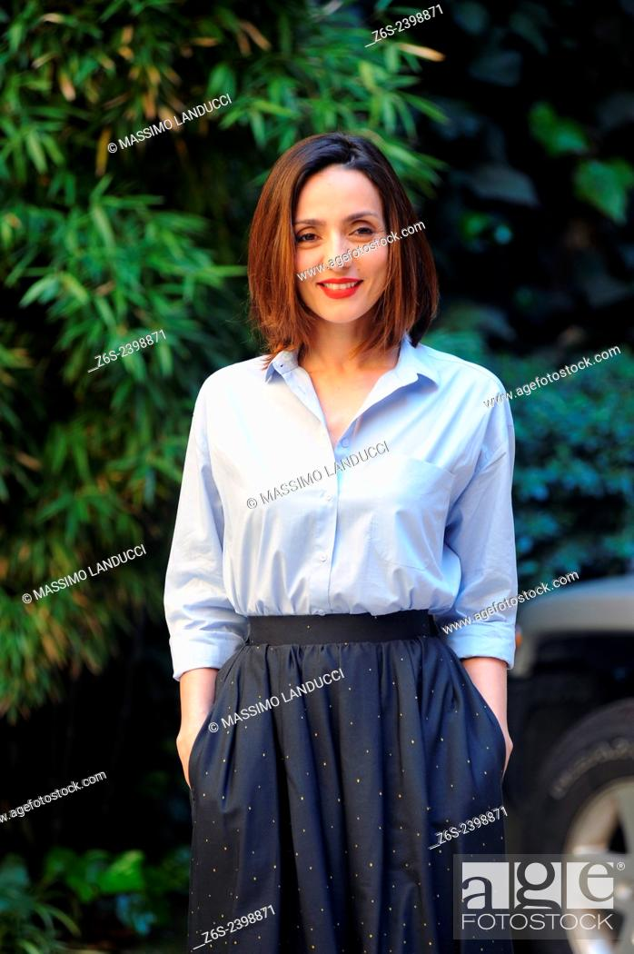 Stock Photo: Ambra Angiolini; Angiolini; actress ; celebrities; 2015;rome; italy;event; photocall; la scelta.