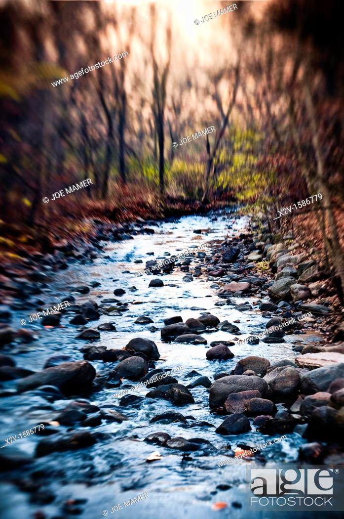 Stock Photo: Nine Mile Creek flowing to the Minnesota River.