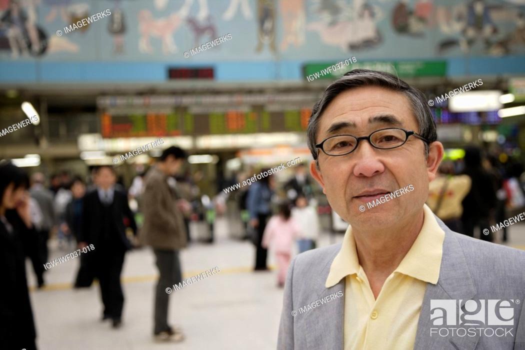 Stock Photo: Close-up of a senior man.