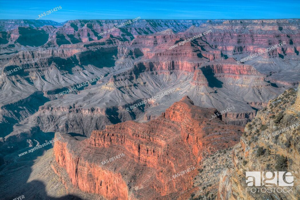 Stock Photo: From Monument Creek Vista, South Rim, Grand Canyon National Park, UNESCO World Heritage Site, Arizona, USA.